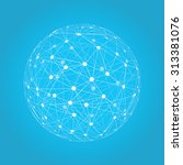 abstract sphere vector... | Shutterstock .eps vector #313381076