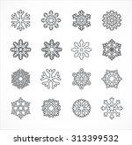 snowflakes vector | Shutterstock .eps vector #313399532