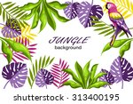 decorative jungle | Shutterstock .eps vector #313400195