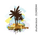 positive summer background for... | Shutterstock .eps vector #31340044