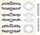 vintage design elements and... | Shutterstock .eps vector #313403258