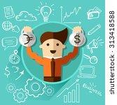 successful businessman | Shutterstock .eps vector #313418588