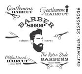 vector set of retro barber shop ... | Shutterstock .eps vector #313429016