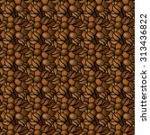 seamless texture of the coffee... | Shutterstock .eps vector #313436822