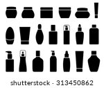 collection of silhouette... | Shutterstock .eps vector #313450862