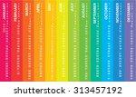creative calendar 2016   sunday ... | Shutterstock .eps vector #313457192