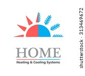 heating   cooling systems... | Shutterstock .eps vector #313469672