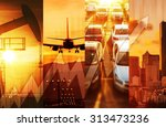 powerful economy concept... | Shutterstock . vector #313473236