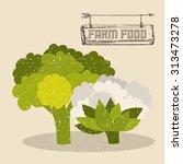farm food digital design ... | Shutterstock .eps vector #313473278
