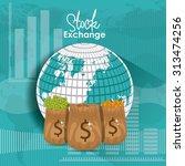 stock exchange digital design ... | Shutterstock .eps vector #313474256