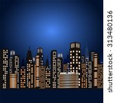 new york city at night | Shutterstock .eps vector #313480136