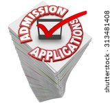 admission applications 3d red... | Shutterstock . vector #313481408