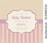 baby shower invitation | Shutterstock .eps vector #313489232