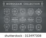 vintage monogram set on... | Shutterstock .eps vector #313497308