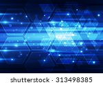 abstract vector technology... | Shutterstock .eps vector #313498385