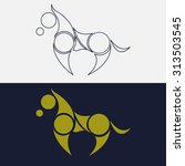 Stock vector horse vintage logo 313503545
