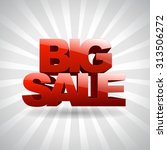 3d text big sale | Shutterstock .eps vector #313506272