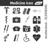 medical icons set. vector... | Shutterstock .eps vector #313508282