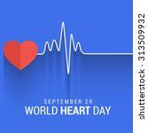 vector illustration world heart ... | Shutterstock .eps vector #313509932