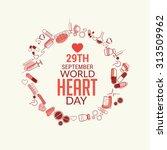 vector illustration world heart ... | Shutterstock .eps vector #313509962