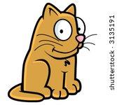 happy cat | Shutterstock .eps vector #3135191