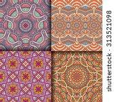 seamless patterns. vintage...   Shutterstock .eps vector #313521098
