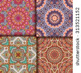 seamless patterns. vintage... | Shutterstock .eps vector #313521152