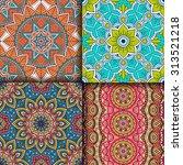 seamless patterns. vintage... | Shutterstock .eps vector #313521218