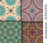 seamless patterns. vintage... | Shutterstock .eps vector #313521992