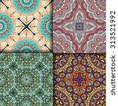 seamless patterns. vintage...   Shutterstock .eps vector #313521992