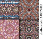 seamless patterns. vintage... | Shutterstock .eps vector #313522028
