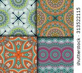 seamless patterns. vintage... | Shutterstock .eps vector #313522115