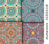 seamless patterns. vintage... | Shutterstock .eps vector #313522118