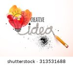 creative idea loaded  vector... | Shutterstock .eps vector #313531688