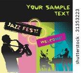 jazz fest | Shutterstock .eps vector #31353223