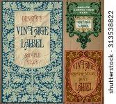vector vintage items  label art ... | Shutterstock .eps vector #313538822
