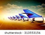 3d illustration of passenger... | Shutterstock . vector #313553156