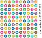 money 100 icons universal set... | Shutterstock .eps vector #313559222