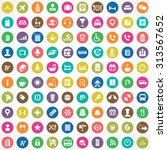 hotel 100 icons universal set... | Shutterstock .eps vector #313567652