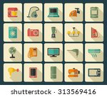 set of icons of different home... | Shutterstock .eps vector #313569416