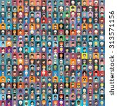 set of people icons in flat... | Shutterstock .eps vector #313571156