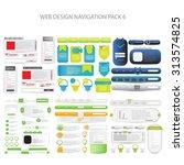 mega web design navigation pack ...   Shutterstock .eps vector #313574825