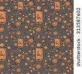 tea pattern | Shutterstock .eps vector #313587602