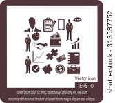 business icons | Shutterstock .eps vector #313587752