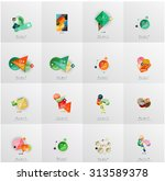 set of abstract geometric... | Shutterstock .eps vector #313589378
