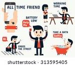 mobile addiction infographics   Shutterstock .eps vector #313595405