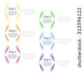 vector infographic. template... | Shutterstock .eps vector #313596122