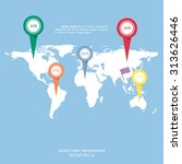 world map globe info graphic... | Shutterstock .eps vector #313626446