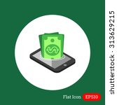 icon of dollar banknotes...   Shutterstock .eps vector #313629215