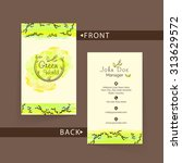 beautiful green and beige...   Shutterstock .eps vector #313629572